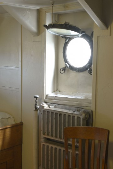 A cabin inside the John W. Brown. Although the Brown, like other Liberty ships, was chiefly a cargo ship, she was retrofitted to add more berthing for passengers. (Christina Tkacik/Baltimore Sun)