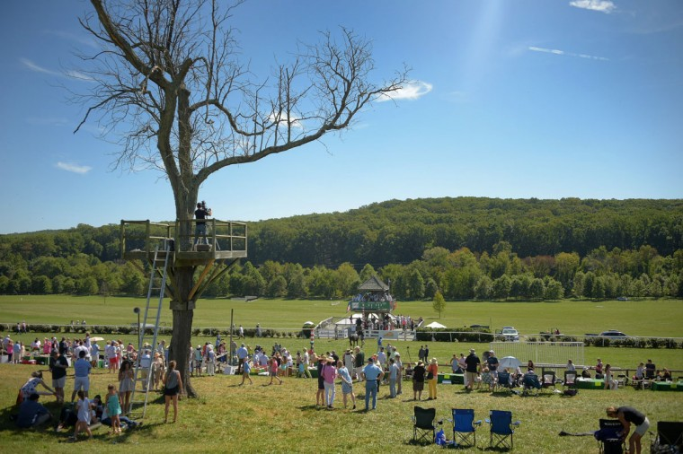A view of the countryside, looking towards the finish line during the 2017 Legacy Chase at Shawan Downs. (Karl Merton Ferron / Baltimore Sun Staff)