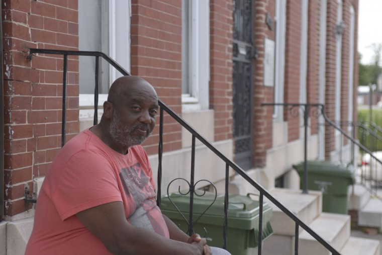 Orlando Bartee, 63, grew up in the house next door to Thurgood Marshall. He also attended the same elementary school just down the street, before transferring to the newly-desegregated Mt. Royal. (Christina Tkacik/Baltimore Sun)