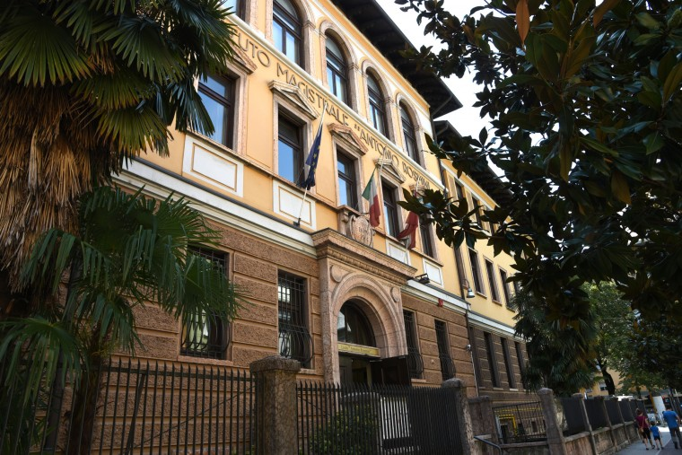"Trento, Italy -- Instituto Magistrale ""Antonio Rossmini,"" the school my mother attended, was just blocks from her home.  Students who planned to become teachers attended the school. (Algerina Perna/Baltimore Sun)"