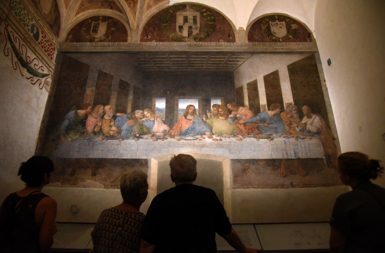 "Milan, Italy -- ""The Last Supper"" by Leonardo da Vinci is a 15th-century mural painting at Santa Mara delle Grazie. The world renown painting has gone through several restorations. (Algerina Perna/Baltimore Sun)"