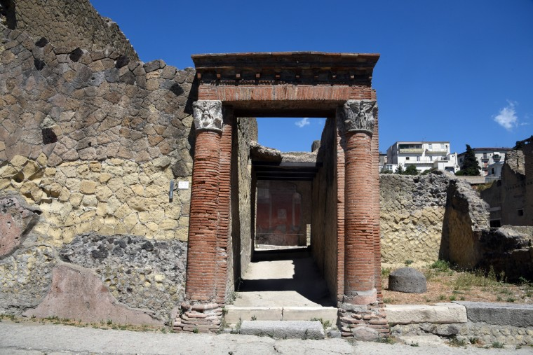 Herculaneum, Italy -- The city was buried under boiling mud in AD 79 when Mt. Vesuvius erupted. The first excavation of the city began in 1738 under the King of Naples. Mt. Vesuvius is 4.4 miles from the city. (Algerina Perna/Baltimore Sun)