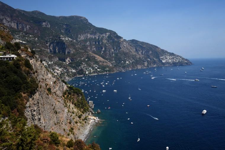 Amalfi Coast, Italy --  Positano is just around the bend on the Amalfi Coast bordering the Gulf of Naples. The Amalfi Coast is 31miles along the southern edge of the Sorrentine Peninsula in the Campania region. (Algerina Perna/Baltimore Sun)