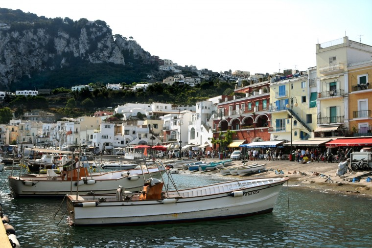 Capri, Italy -- Taken with its beauty, the first Roman emperor Caesar Augustus, acquired the island of Capri, pictured, by trading the island of Ischia for it. The exchange was made with the city of Naples in 29 BC. In a grotto on the island, archaeologists found Neolithc tombs  containing amulets. The Neolithic age spanned the period from 6000-2000 BC. (Algerina Perna/Baltimore Sun)