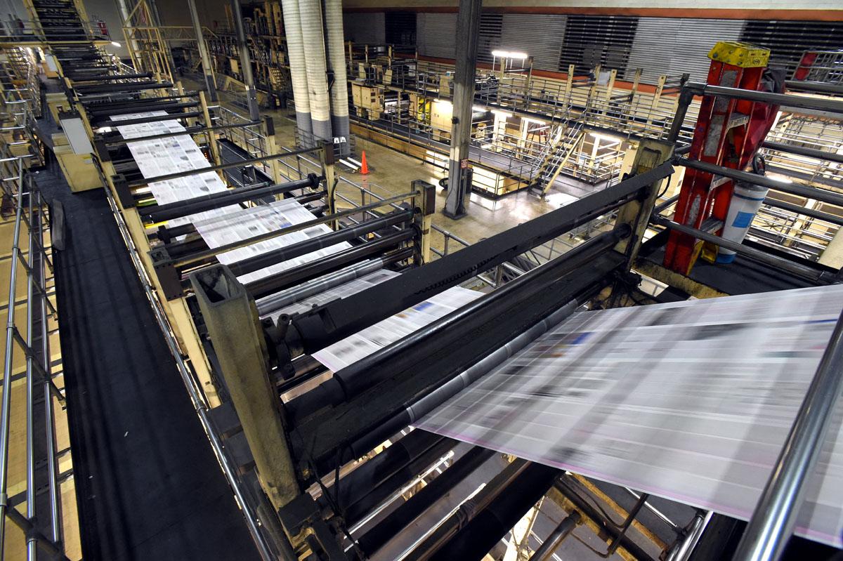 inside the baltimore sun s printing plant