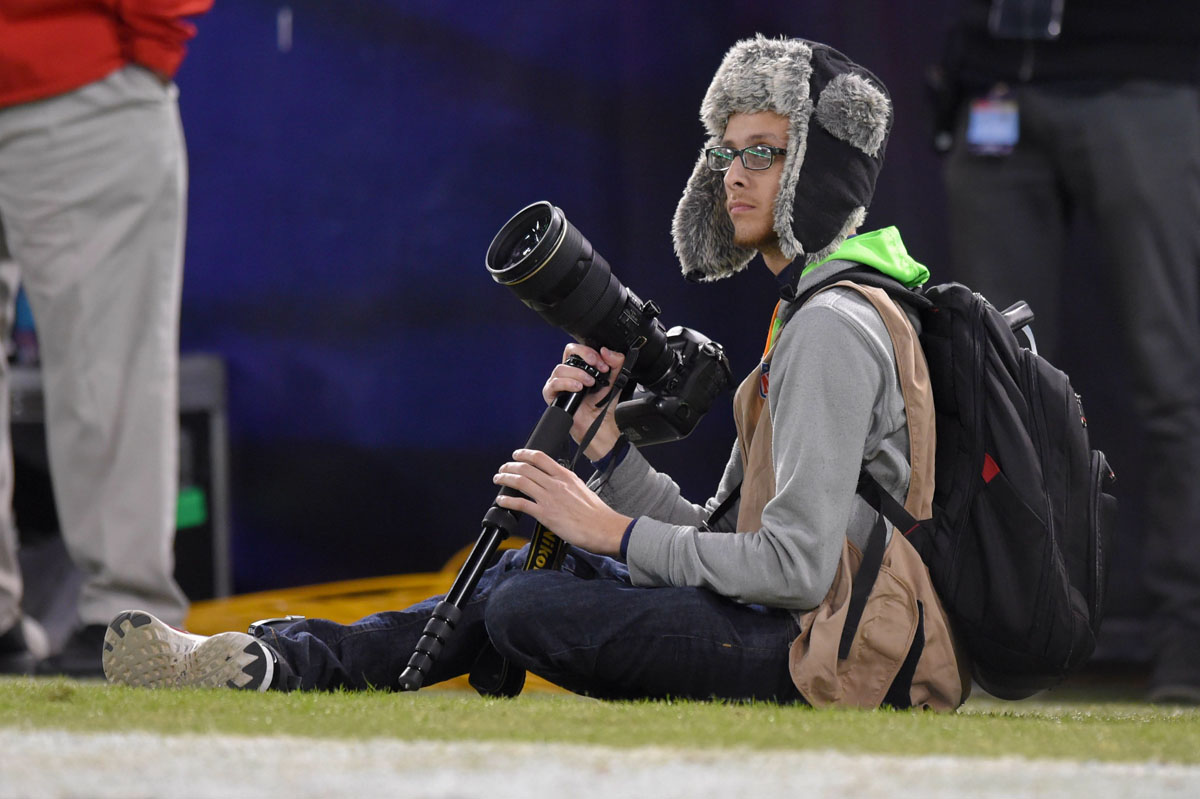 Lessons from a photographer's first Ravens game