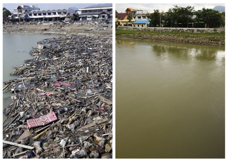 Before and after: Indian Ocean Tsunami