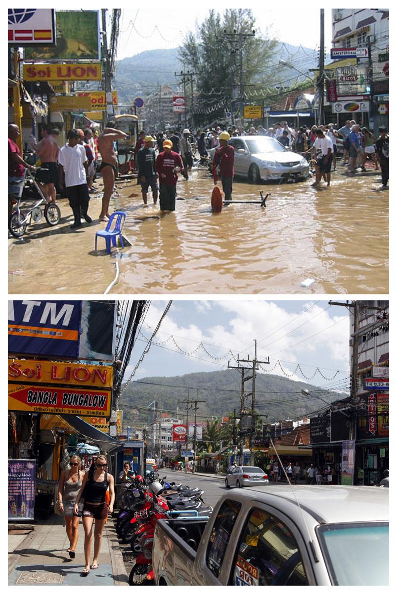 before tsunami what happend