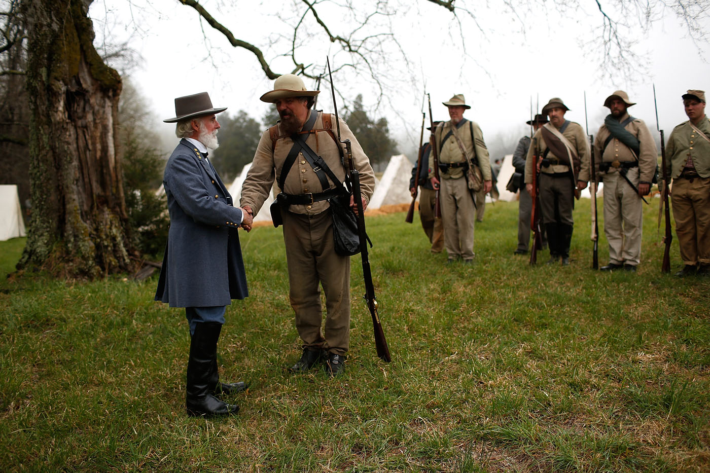 The End Of The Road Re Enacting The Surrender At Appomattox