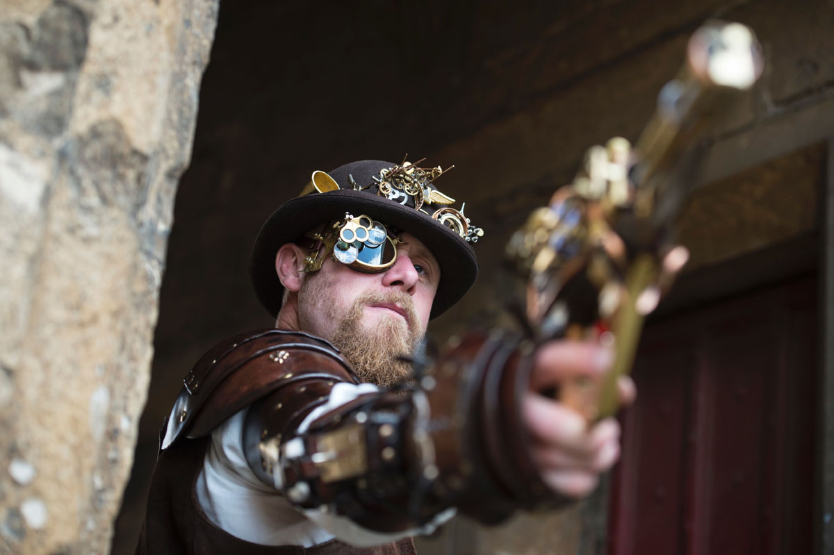 Costumed enthusiasts attend world's largest steampunk festival  Costumed enthus...