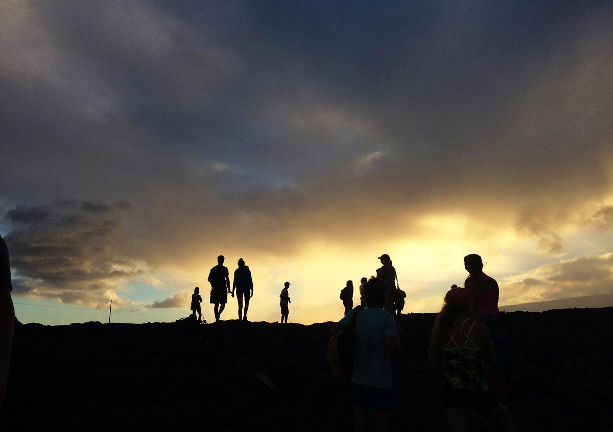 Lava flow in Hawaii's Volcanoes National Park