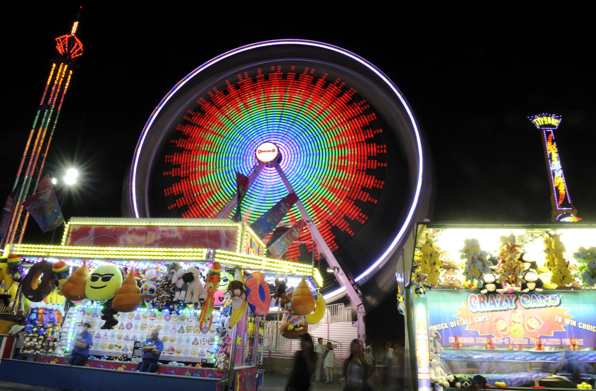 Night Lights At The Maryland State Fair