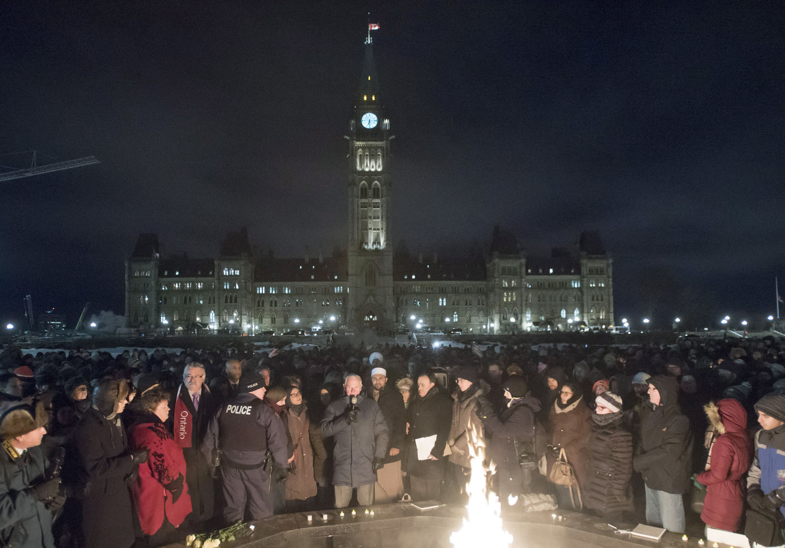 Mosque Shooting Image: Mourners Gather In Remembrance Of Quebec City Mosque