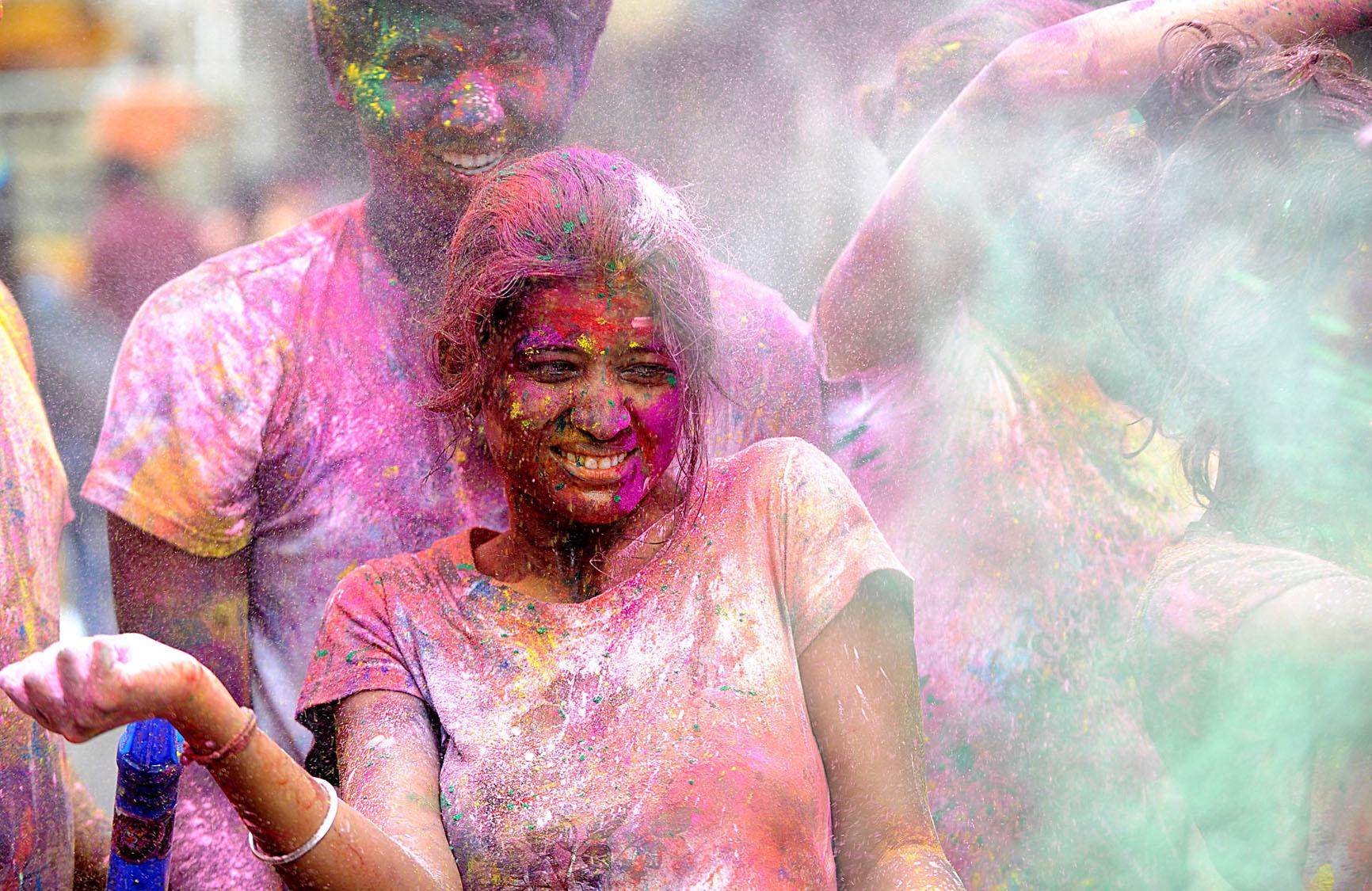 Holi Photo: Celebrating Holi, 'festival Of Colors,' In India